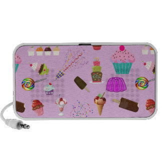 Colorful Candy Party Pattern Travel Speakers