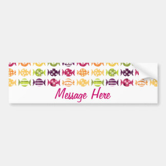 Colorful candy pattern2 bumper sticker