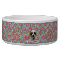 Colorful Candy Pattern - Donuts, Dog, Bowl