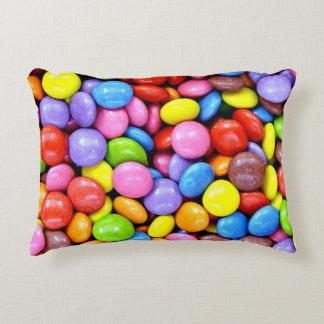 Colorful Candy Pieces Decorative Pillow