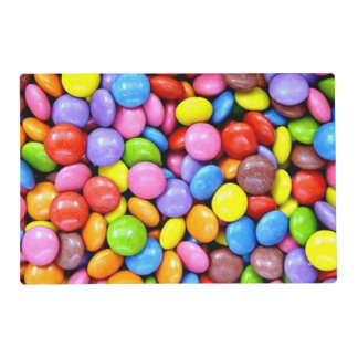 Colorful Candy Pieces Laminated Place Mat