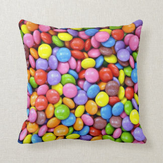 Colorful Candy Pieces Throw Pillows
