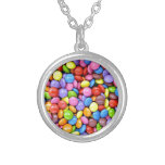 Colorful Candy Pieces Round Pendant Necklace