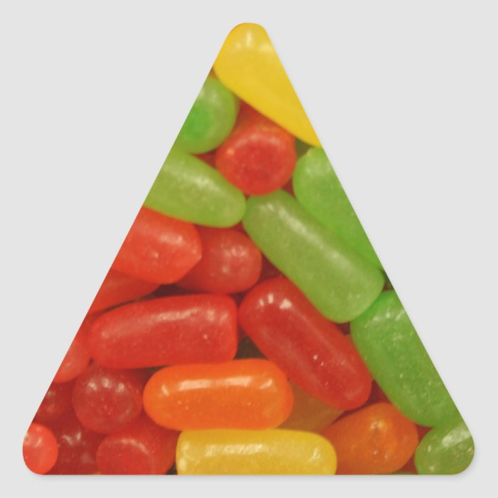 Colorful Candy Pills Triangle Sticker