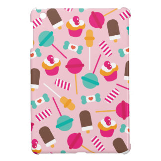 Colorful candy popsicle birthday cupcake theme case for the iPad mini