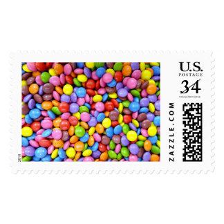 Colorful Candy Postage Stamps
