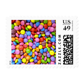 Colorful Candy Postage Stamp