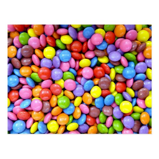 Colorful Candy Post Card