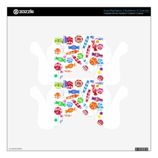 colorful candy PS3 controller decals