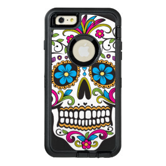 Colorful Candy Skull OtterBox Defender iPhone Case