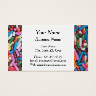 Colorful Candy Sprinkles Business Card