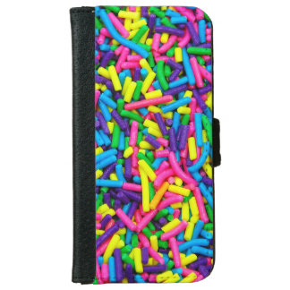 Colorful candy sprinkles iphone wallet case