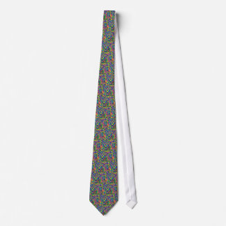 Colorful candy sprinkles print neck tie