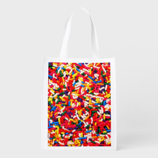 Colorful Candy Sprinkles Reusable Grocery Bag