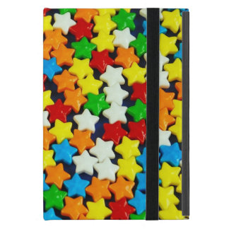 Colorful candy stars pattern ipad mini case