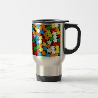Colorful candy stars pattern travel mug