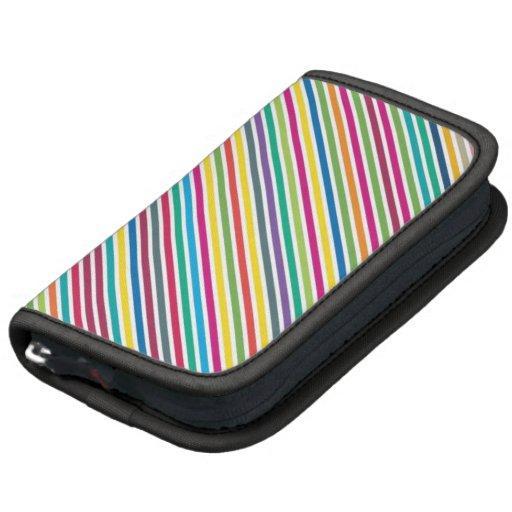 Colorful Candy Stripe Design Folio Planner