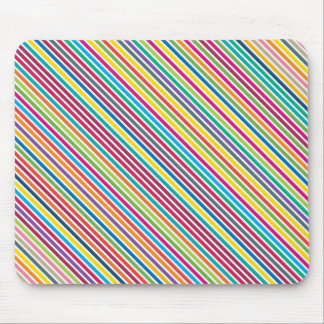 Colorful Candy Stripe Design Mouse Pad