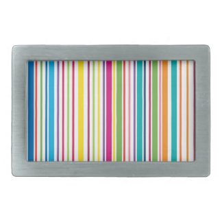 Colorful Candy Stripes Rectangular Belt Buckles