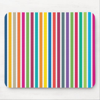 Colorful Candy Stripes Mouse Pad