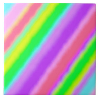 Colorful Candy Stripes Ombre Shadow Tile