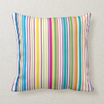 Colorful Candy Stripes Pillow
