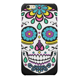 Colorful Candy Sugar Skull Glossy iPhone 6 Plus Case