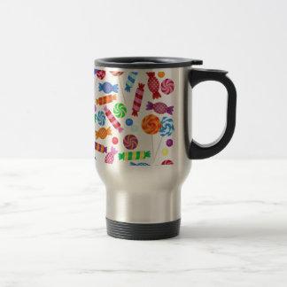 colorful candy travel mug
