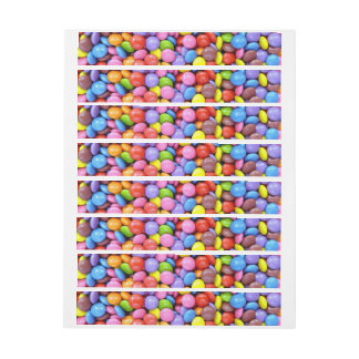 Colorful Candy Wrap Around Address Label