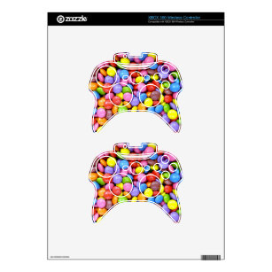 Colorful Candy Xbox 360 Controller Skin