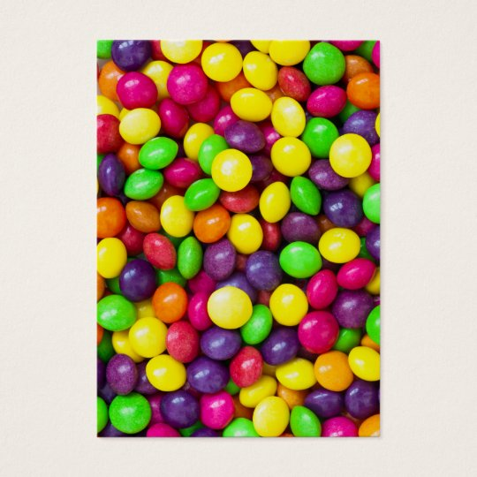 Colorful candy's background large business card