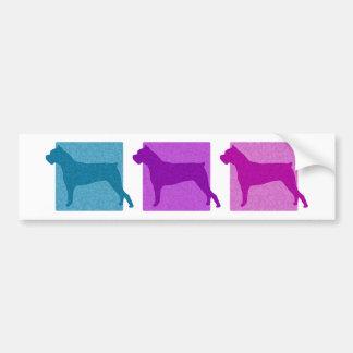 Colorful Cane Corso Silhouettes Bumper Sticker