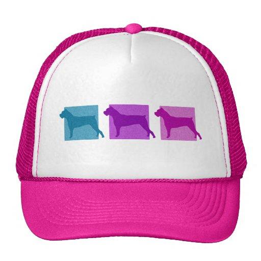 Colorful Cane Corso Silhouettes Trucker Hat