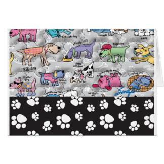 Colorful Canines Card