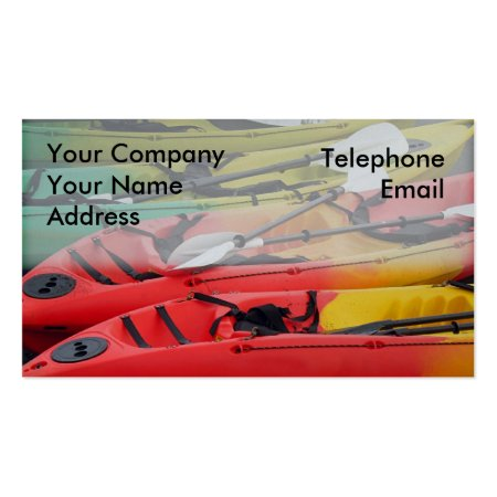 Red and Yellow Canoes Business Cards