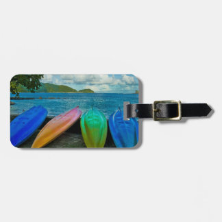 Colorful Canoes On The Beach In Pago Pago Bag Tag