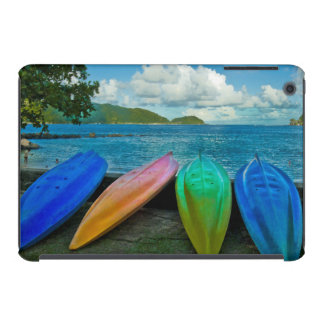 Colorful Canoes On The Beach In Pago Pago iPad Mini Case