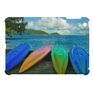 Colorful Canoes On The Beach In Pago Pago iPad Mini Cover