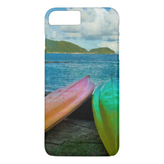 Colorful Canoes On The Beach In Pago Pago iPhone 7 Plus Case