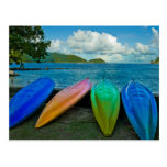 Colorful Canoes On The Beach In Pago Pago Postcard
