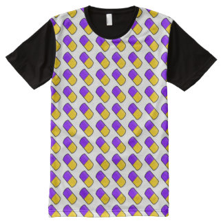 Colorful Capsules Repeating Pattern – PYB All-Over-Print T-Shirt