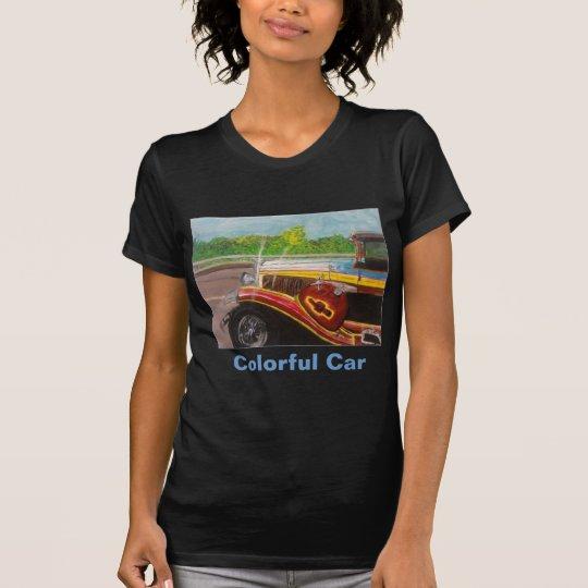 Colorful Car - Lady's T-Shirt Dark