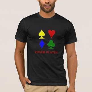 Colorful Card Suits T-Shirt