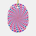 Colorful Card Suits Vortex Christmas Tree Ornaments