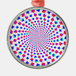 Colorful Card Suits Vortex Ornaments