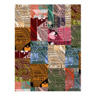 'colorful cards' art Postcard