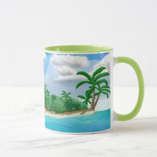 Colorful Caribbean Beach Island Mug by Yotifo