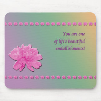 Colorful Carnation Embellishments Mousepad