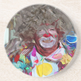 Colorful Carnival Clown Abstract Impressionism Drink Coaster