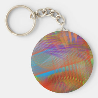 Colorful Carnival Lights Abstract Keychains